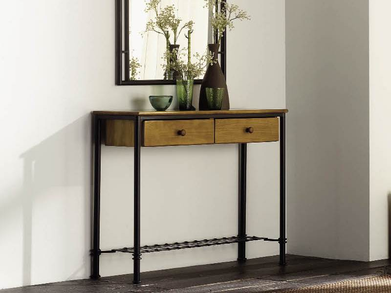 console florncia en fer forg haut de gamme meuble de salon lotusa. Black Bedroom Furniture Sets. Home Design Ideas