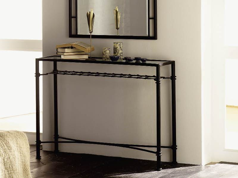 console atenas en fer forg haut de gamme meuble de salon. Black Bedroom Furniture Sets. Home Design Ideas