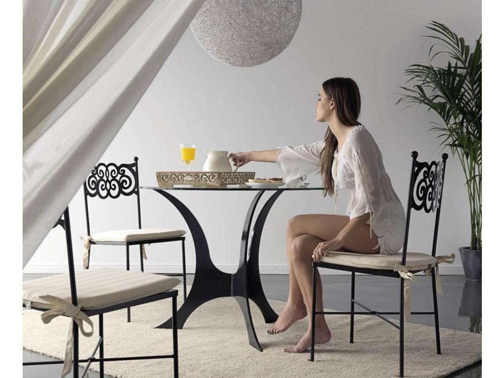 Chaise granada en fer forg haut de gamme meuble de salle for Chaise longue fer forge