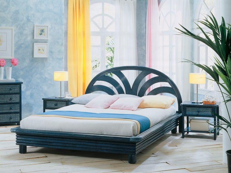 chevet en rotin mrida de qualit d 39 espagne meuble pour la chambre lotusa. Black Bedroom Furniture Sets. Home Design Ideas