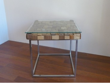 Table basse Block Wood