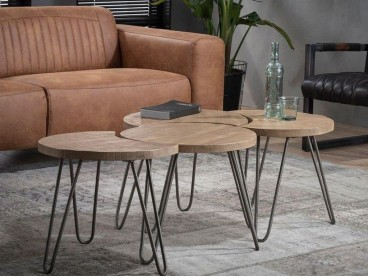 Set de 4 tables basses Bikeru