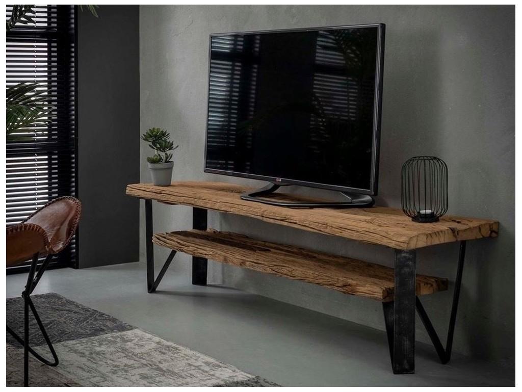 Meuble Tv Bakaru En Bois Massif Mobilier De Qualite Lotusea