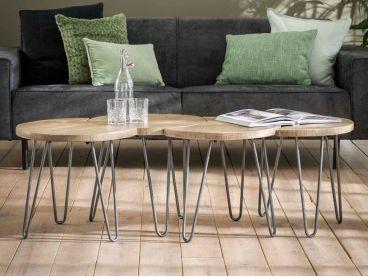 Set de 4 tables basses Bikeru