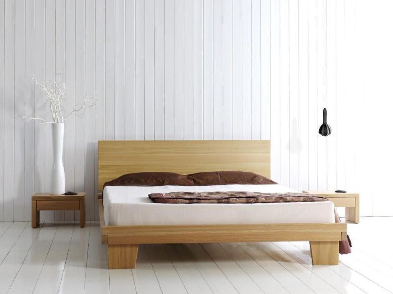 lit en chne massif valencia de qualit meuble pour la. Black Bedroom Furniture Sets. Home Design Ideas