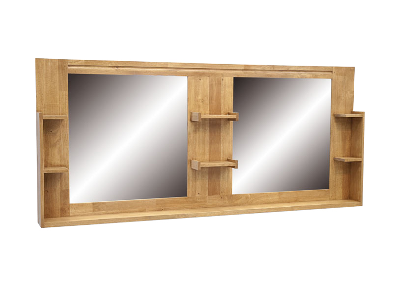 miroir bois salle de bain. Black Bedroom Furniture Sets. Home Design Ideas