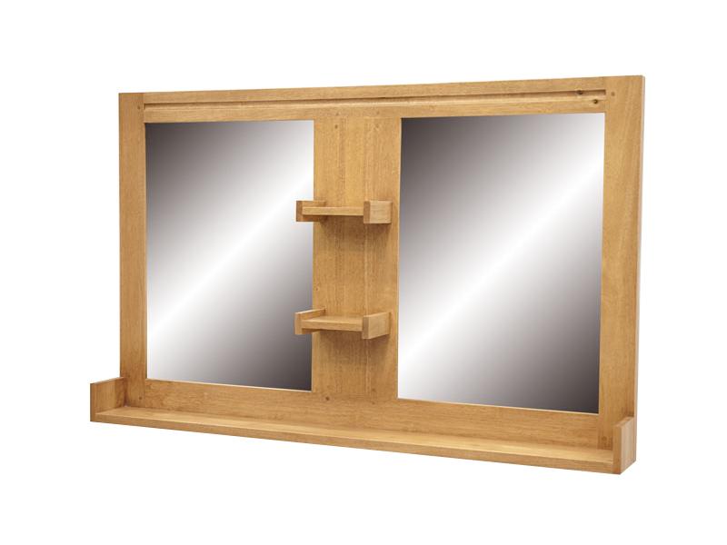 Miroir de salle de bain ocania2 en hva massif de qualit de thalande lotusa - Miroir articule salle de bain ...