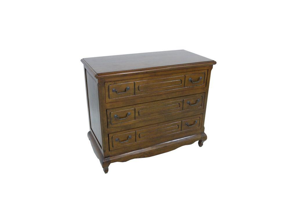 Commode country3 en hva massif meuble bois massif pour la chambre lotusa - Commode chambre en bois massif ...