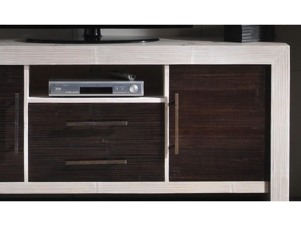 meuble tv kukai2 en bambou haut de gamme meuble de salon lotusa. Black Bedroom Furniture Sets. Home Design Ideas