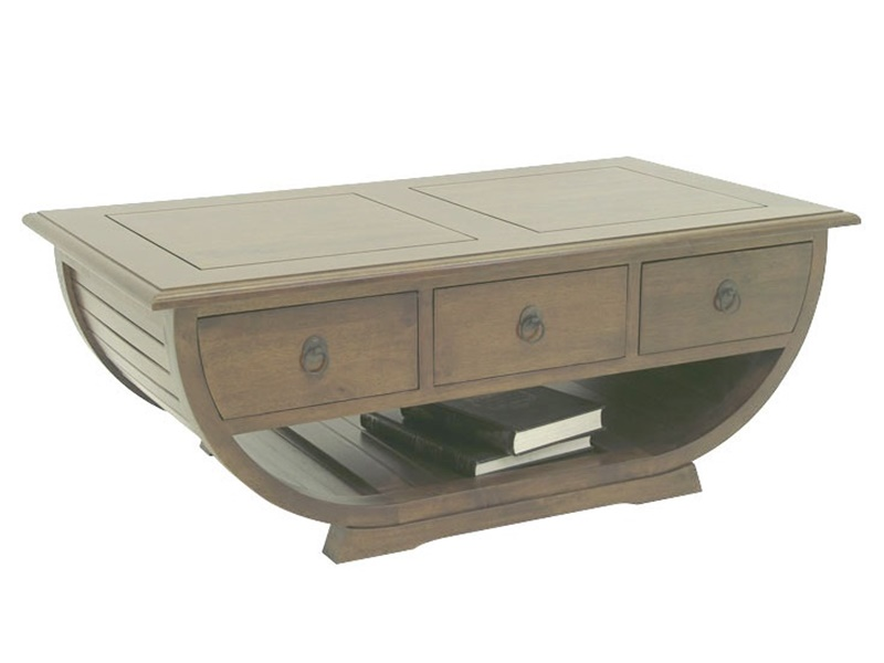 Table basse satun en h v a massif de qualit meuble en - Table basse massif bois ...