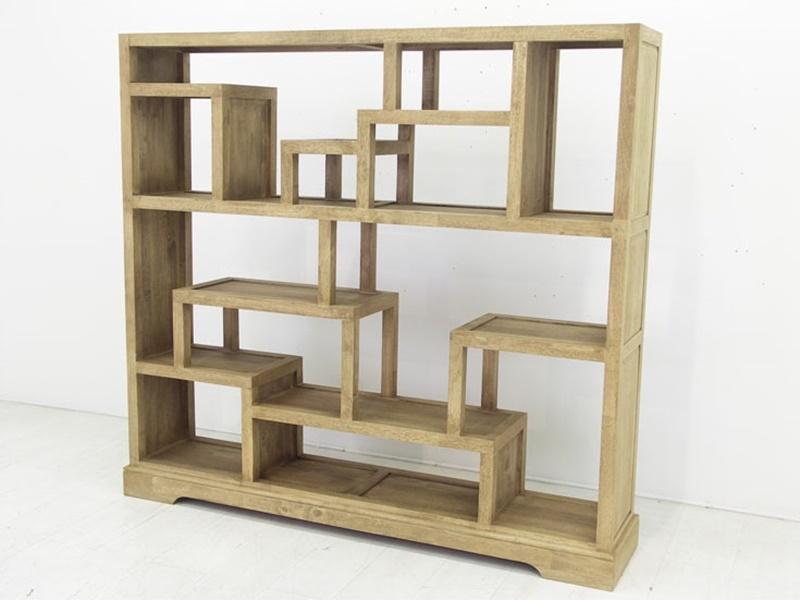 bibliothque ranong1 en hva massif de qualit meuble de salon en bois massif lotusa. Black Bedroom Furniture Sets. Home Design Ideas