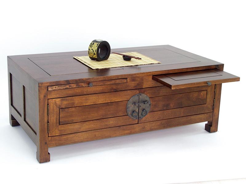 Table basse en hva massif yala1 de qualit meuble de salon - Recherche table de salon ...