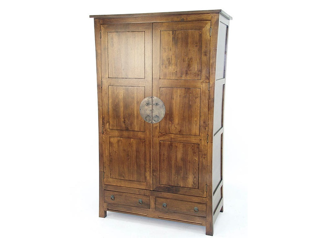 armoire lampang en hva massif meuble en bois massif pour la chambre lotusa. Black Bedroom Furniture Sets. Home Design Ideas