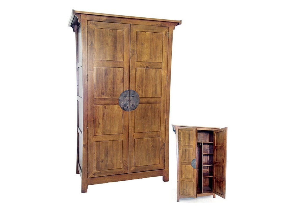 armoire yala2 en hva massif meuble en bois massif pour la chambre lotusa. Black Bedroom Furniture Sets. Home Design Ideas