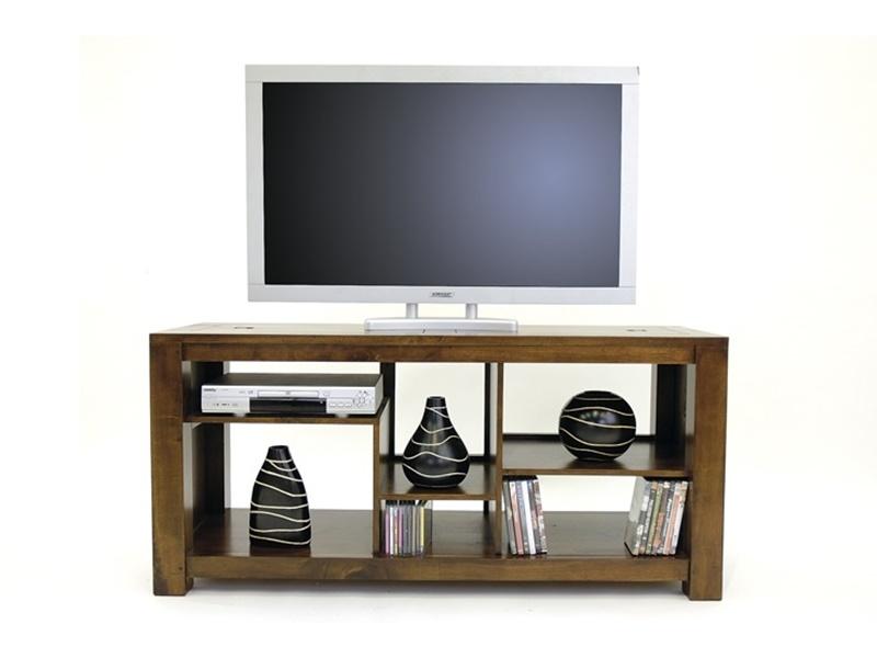 Meuble tv Pattani2 en hva massif de qualit Meuble en bois massif pour la sal -> Colonne Meubles Tv Bois Massif