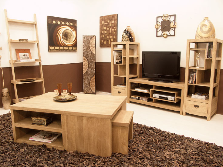 meuble tv ranong3 en hva massif de qualit de thalande lotusa. Black Bedroom Furniture Sets. Home Design Ideas