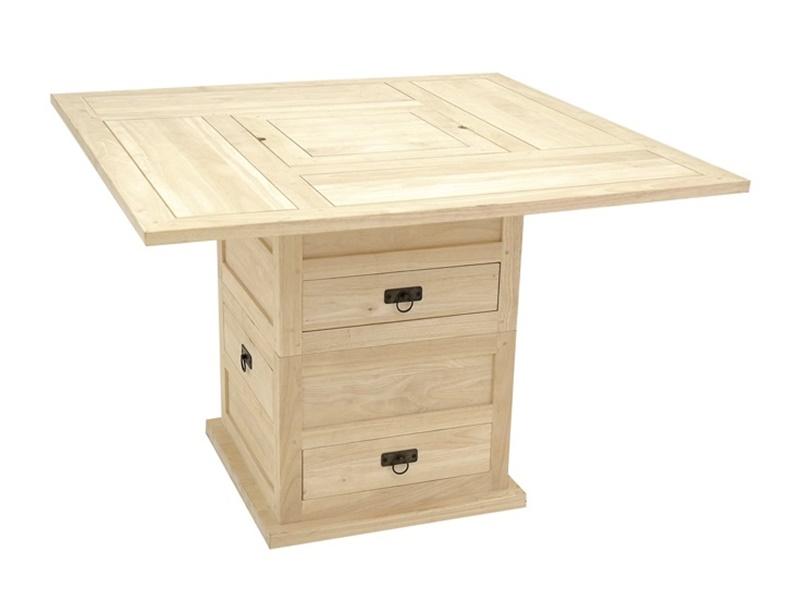 Table r haussable ranong en h v a massif meuble en bois massif pour la salle - Table rehaussable but ...