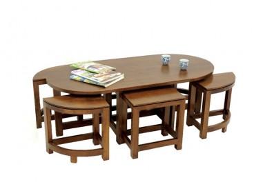 Table basse ovale + 6...