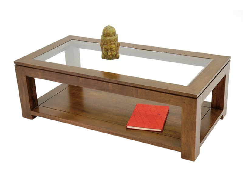 Table basse vitrine salon - Table basse coloniale ...