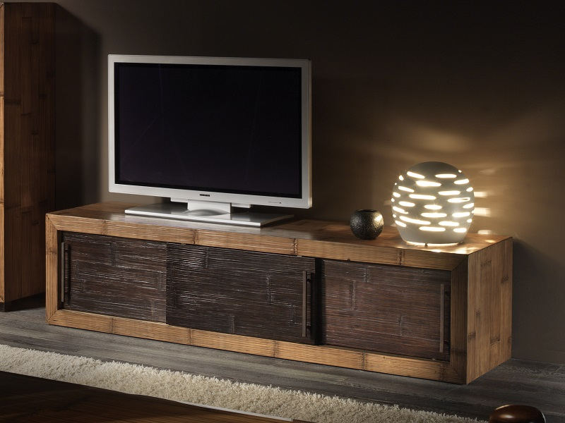 meuble tv kukai en bambou haut de gamme meuble de salon. Black Bedroom Furniture Sets. Home Design Ideas