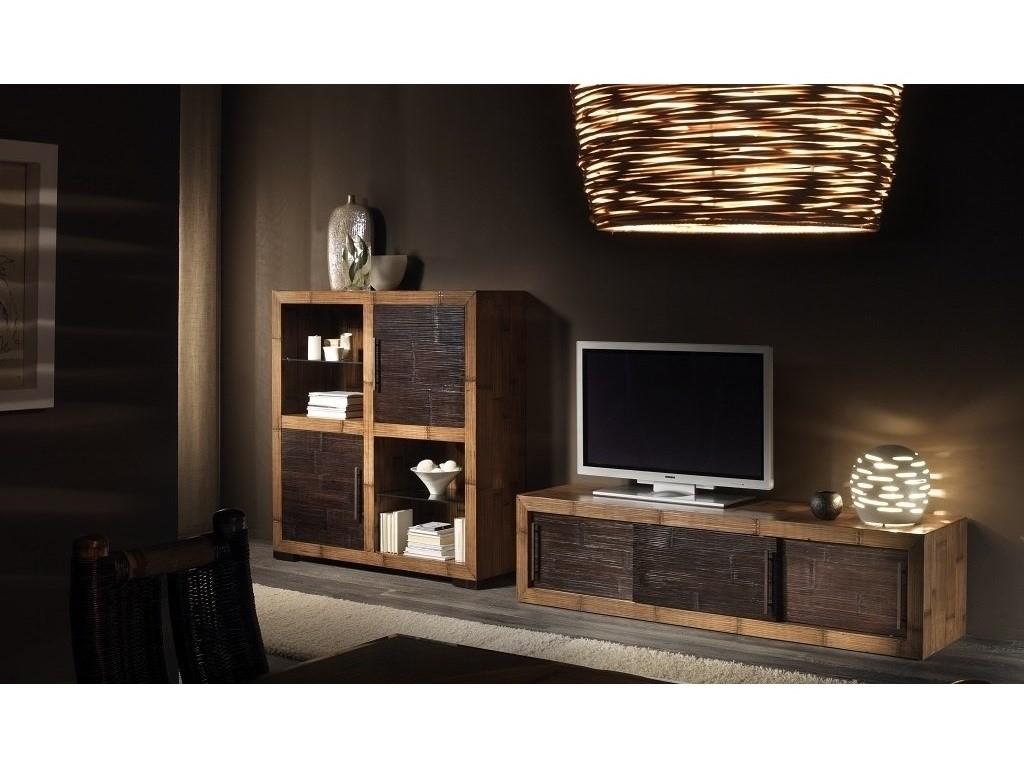 meuble tv kukai en bambou haut de gamme meuble de salon lotusa. Black Bedroom Furniture Sets. Home Design Ideas