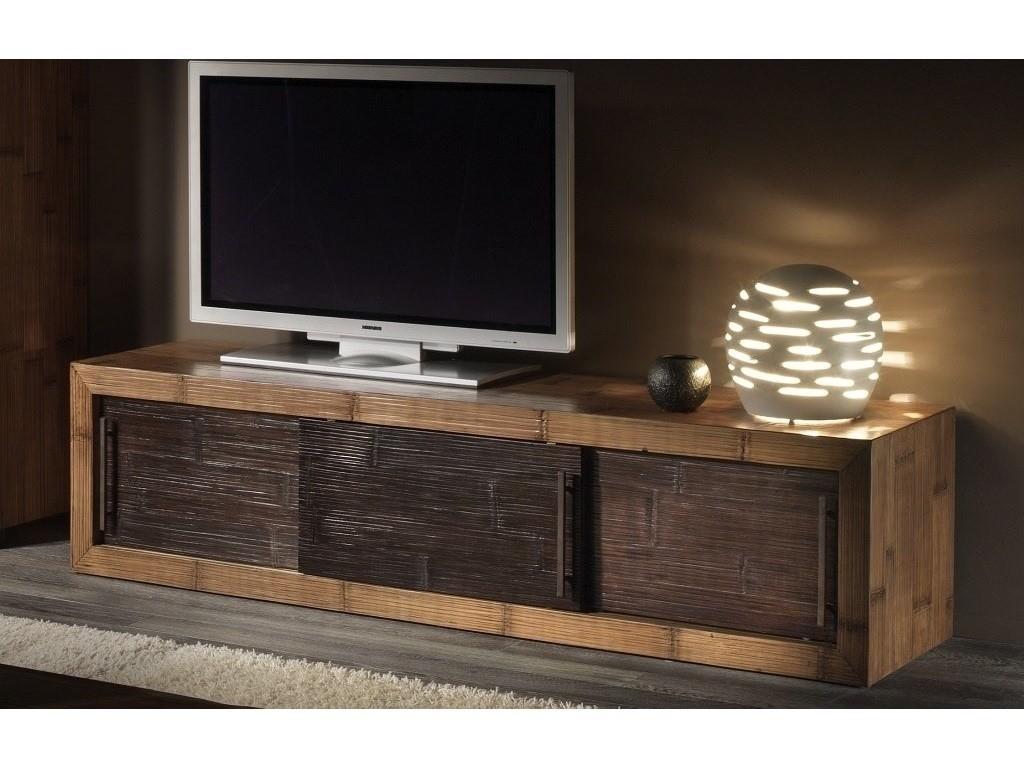 Meuble tv kukai en bambou haut de gamme meuble de salon lotusa - Meuble en bambou ...