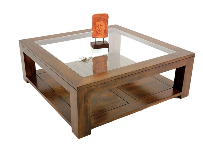 Table basse en hva bangkok11 de qualit meuble en bois - Table moderne en verre ...