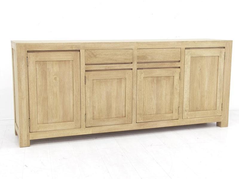 Enfilade en hva massif tak de qualit de thalande meuble for Enfilade salle a manger