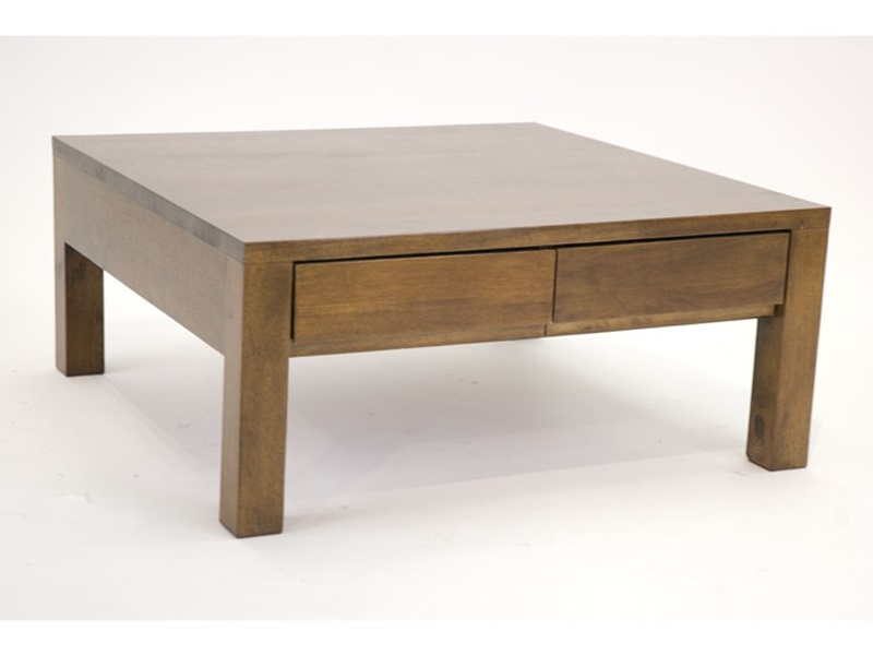 Table basse carre en hva massif tak de qualit de thalande Table basse personnalisee photo