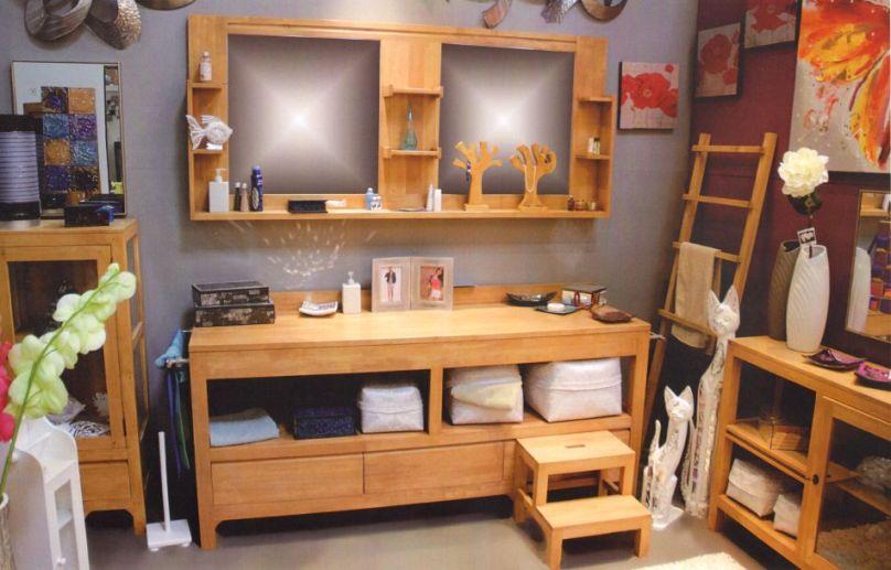 etagre de salle de bain ocania en hva massif de qualit de thalande lotusa. Black Bedroom Furniture Sets. Home Design Ideas