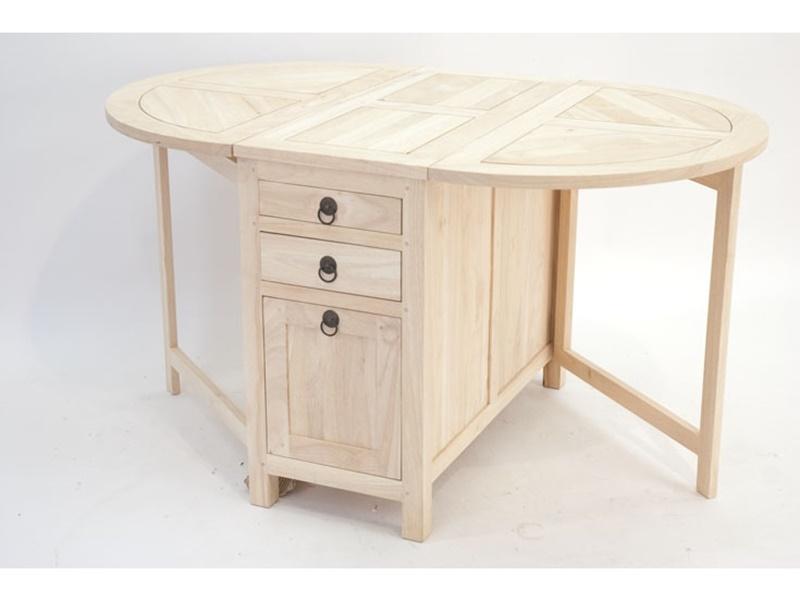 Table pliante ranong2 en hva massif meuble en bois massif for Table pliante pour salle a manger