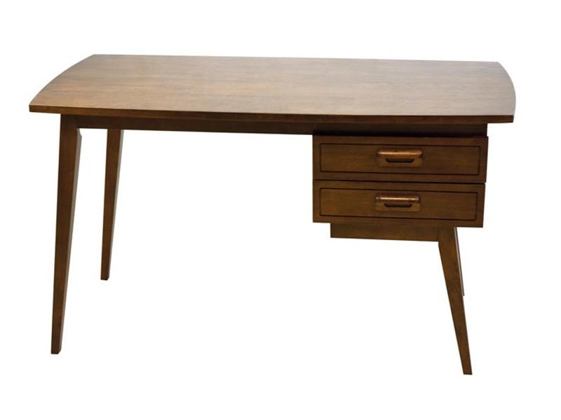 Bureau en hva massif vintage de qualit meuble pour le for Bureau retro