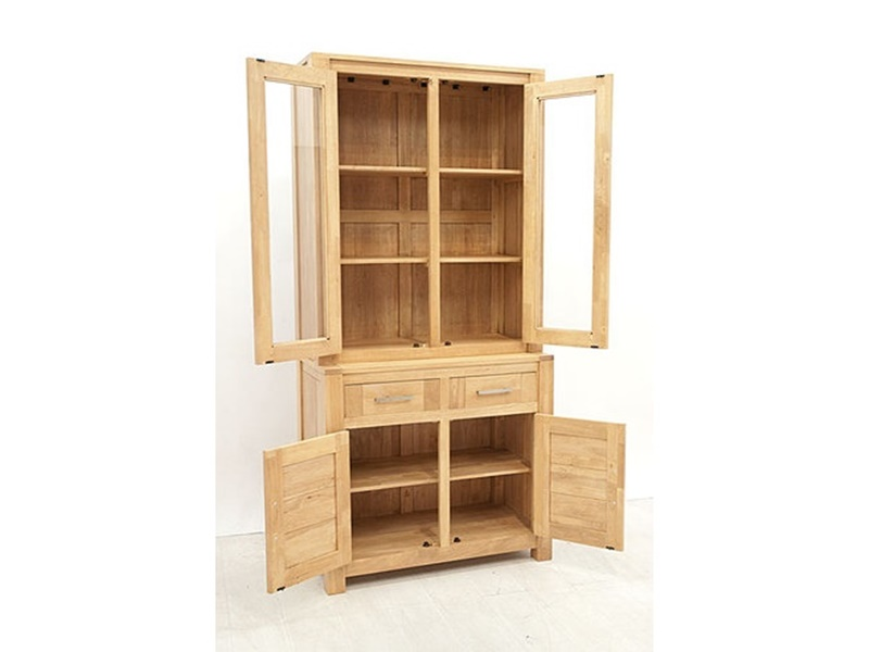 vaisselier en hva massif thaman meuble de salle manger lotusa. Black Bedroom Furniture Sets. Home Design Ideas