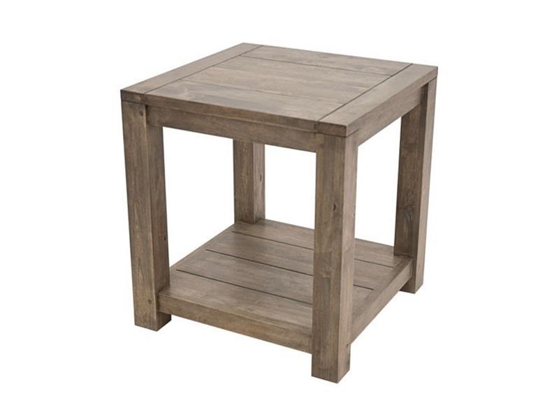 Table basse en hva massif thaman meuble de salon en bois - Bout de canape wenge ...