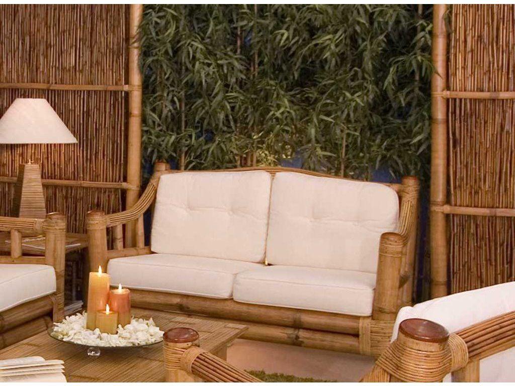Canapé En Bambou : canap en bambou luna 2 places de qualit meuble pour le salon lotusa ~ Melissatoandfro.com Idées de Décoration
