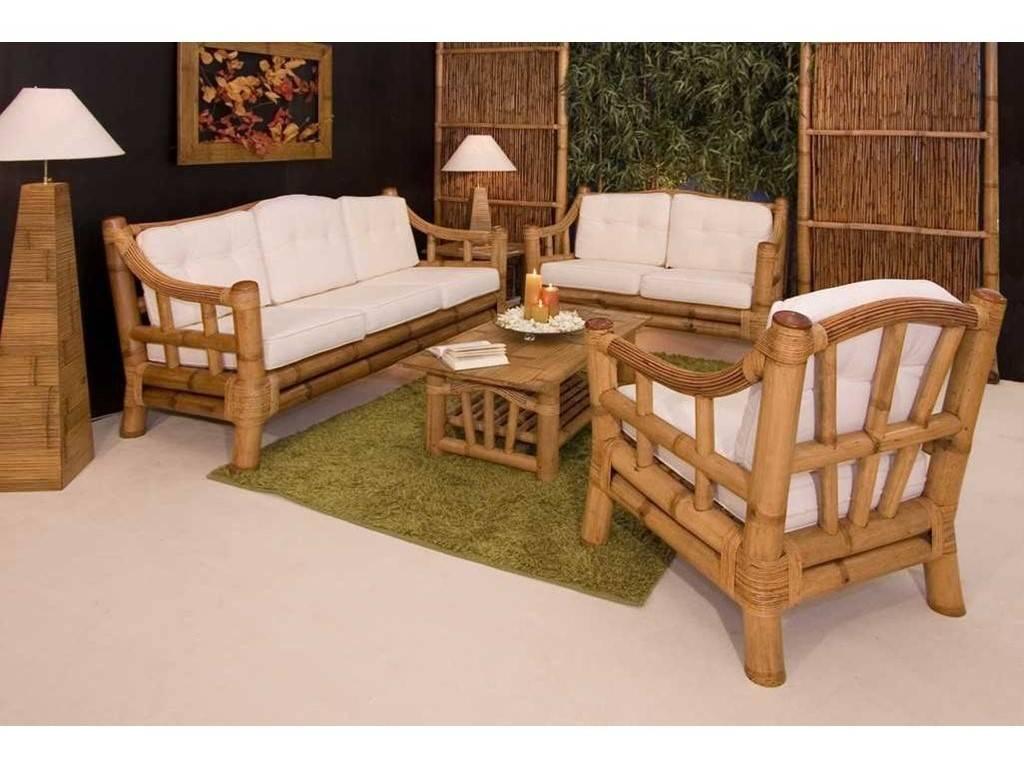 Canap en bambou luna 2 places de qualit meuble pour le salon lotusa - Lit en bambou pas cher ...