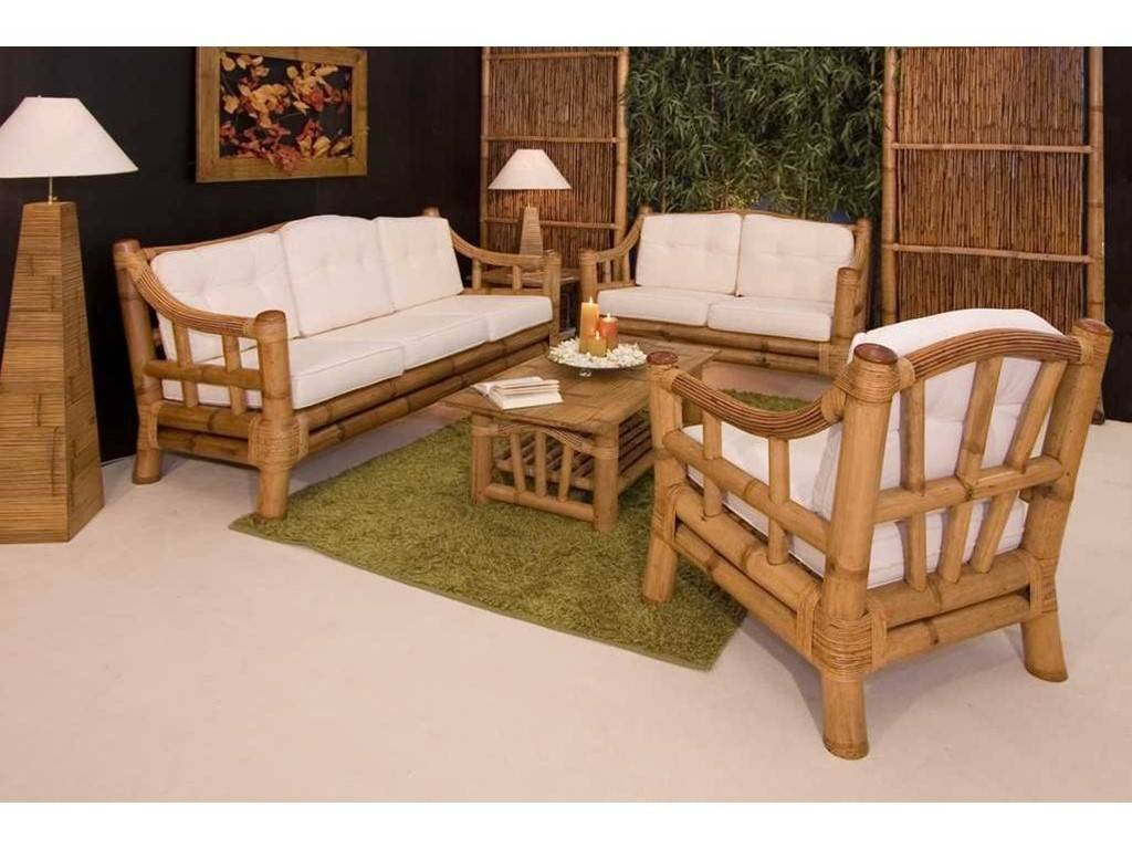 canap en bambou luna 3 places de qualit meuble pour le salon lotusa. Black Bedroom Furniture Sets. Home Design Ideas