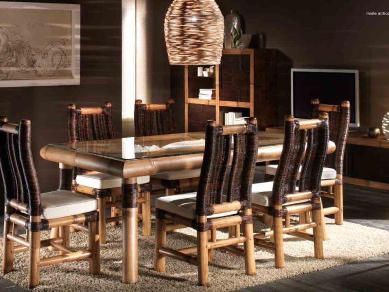 table de repas ubud en bambou haut de gamme meuble pour la salle manger lotusa. Black Bedroom Furniture Sets. Home Design Ideas