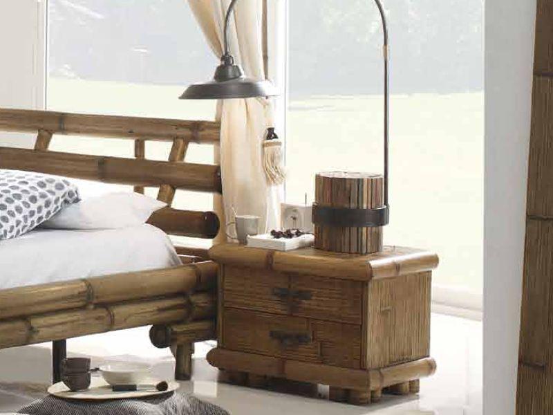 Chevet symba en bambou haut de gamme meuble pour la - Table de chevet en bambou ...