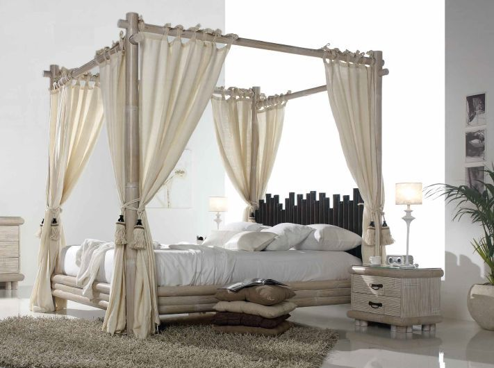 lit baldaquin havana en bambou haut de gamme meuble pour la chambre lotusa. Black Bedroom Furniture Sets. Home Design Ideas