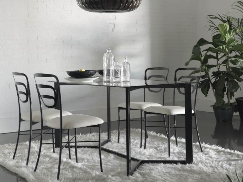 Table de repas mallorca en fer forg haut de gamme meuble for Table de salle a manger fer forge