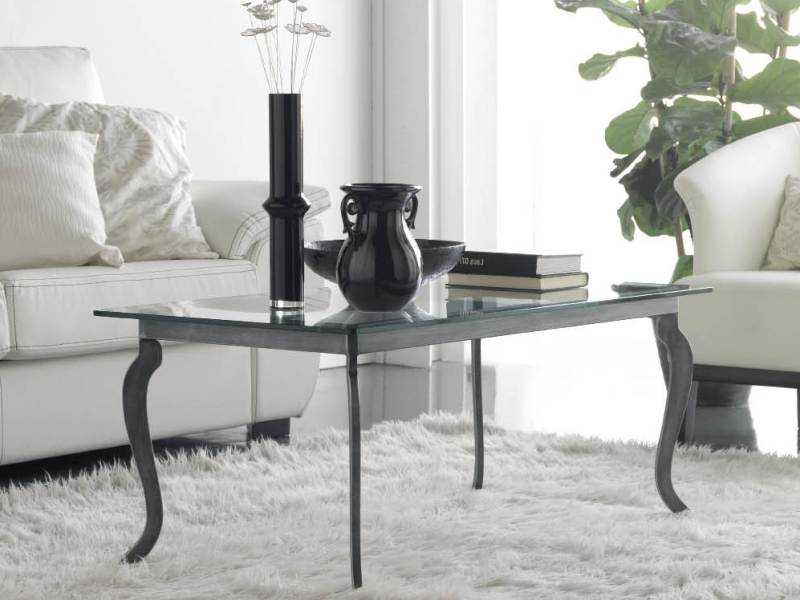 Table basse toledo en fer forg haut de gamme meuble de for Meuble tolede 110