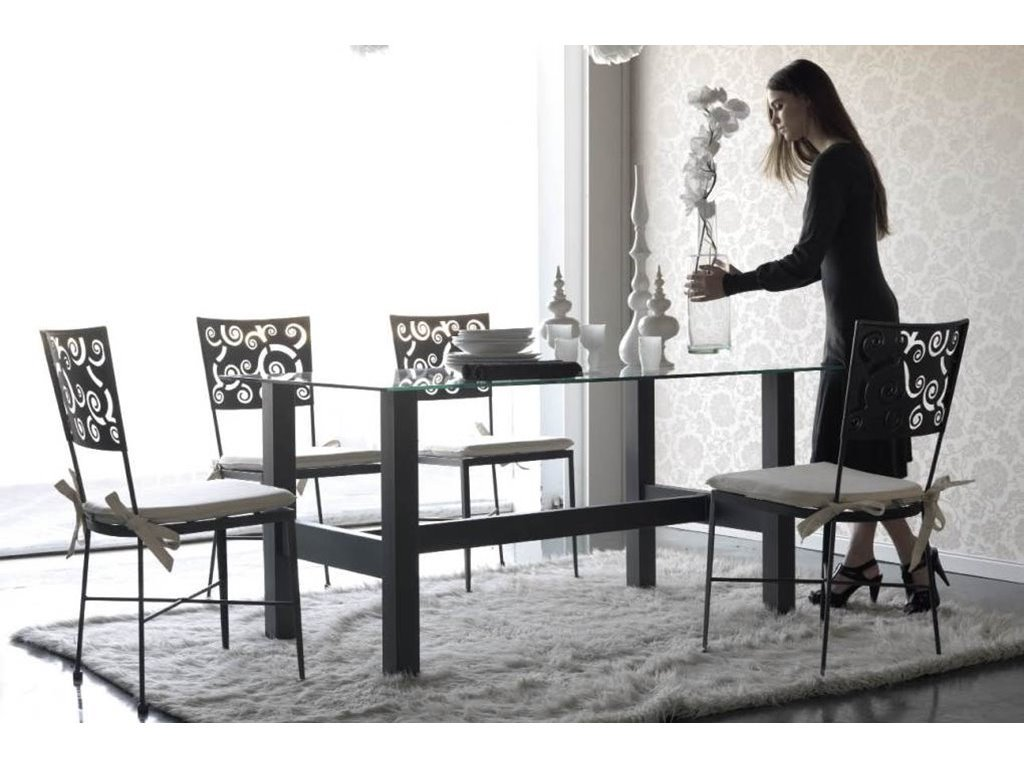 Table de repas boston en fer forg haut de gamme meuble de for Meuble de salle a manger haut de gamme