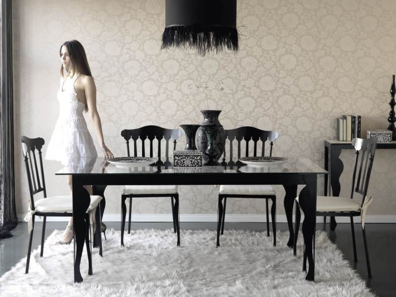 table de repas apolo en fer forg haut de gamme meuble de salle manger lotusa. Black Bedroom Furniture Sets. Home Design Ideas