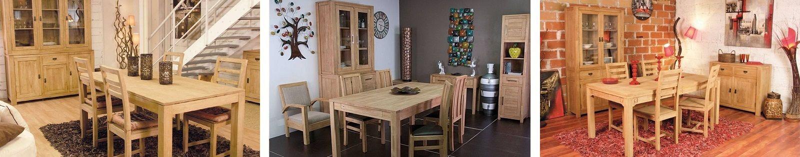 Vaisselier en Hévéa massif, meuble pour la salle à manger. Lotuséa