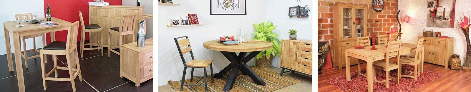 Chaise en Hévéa massif, meuble pour compléter votre salle à manger. Lotuséa