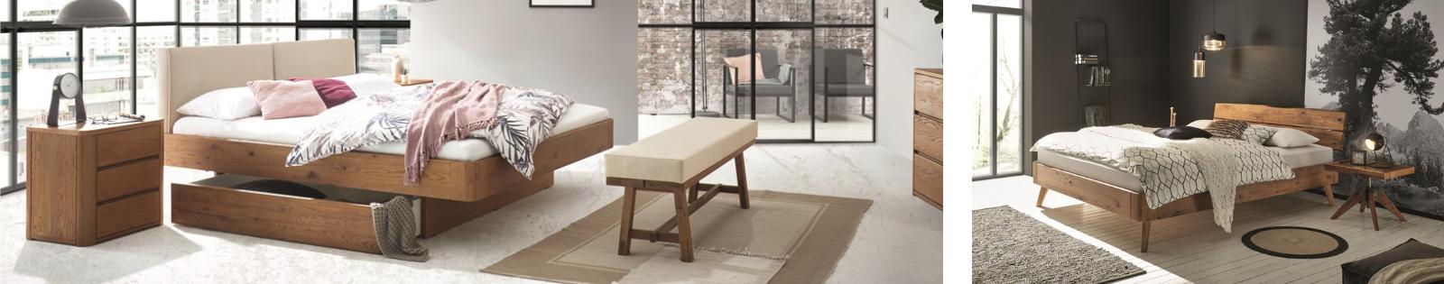 Gamme OAK PURO Hasena, meubles en chêne massif noueux et sauvage.