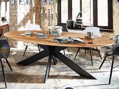 Table repas ovale bois