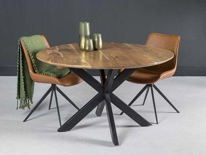 Table repas ronde bois
