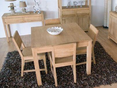 Table repas carrée bois